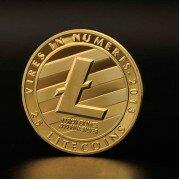 Монета Лайткоин (Litecoin) (золотая)